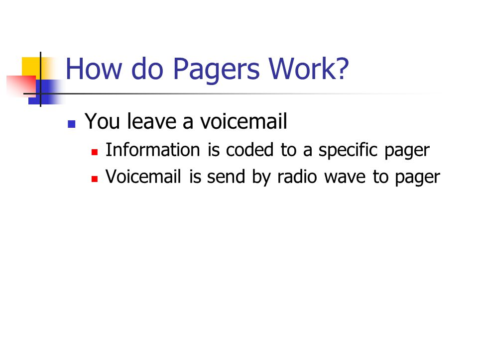 How do Pagers Work.