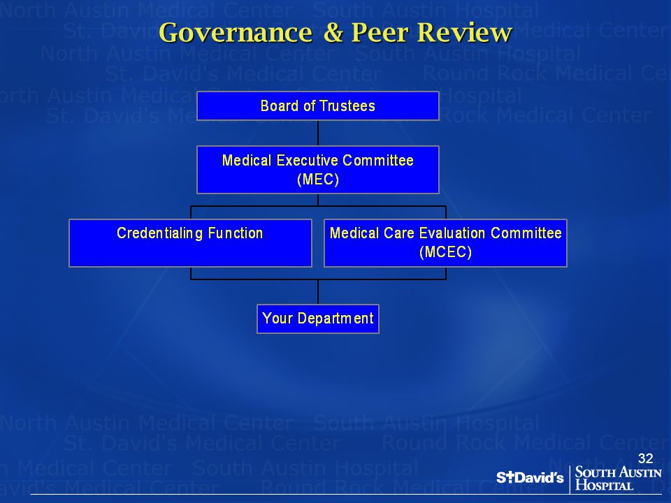 32 Governance & Peer Review