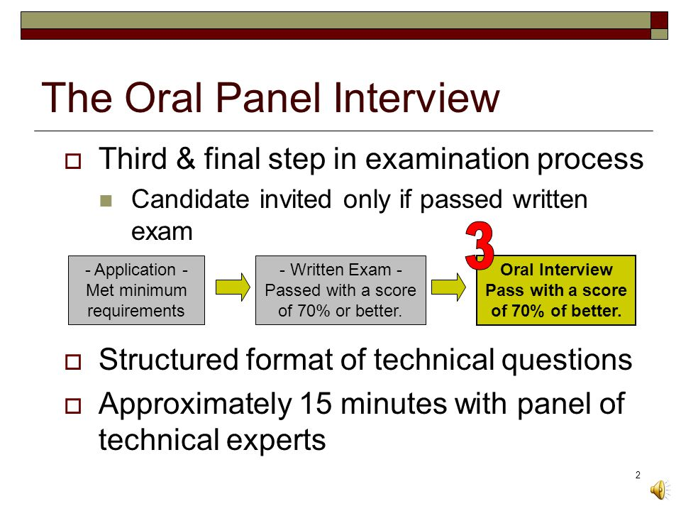 1 Part Three: Oral Panel Technical Interview Tips on How to Prepare for the Oral Examination