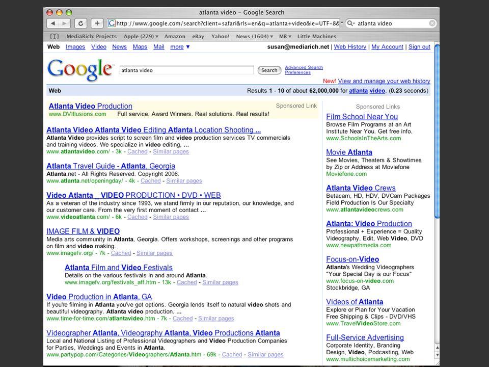 Google results for Atlanta Video