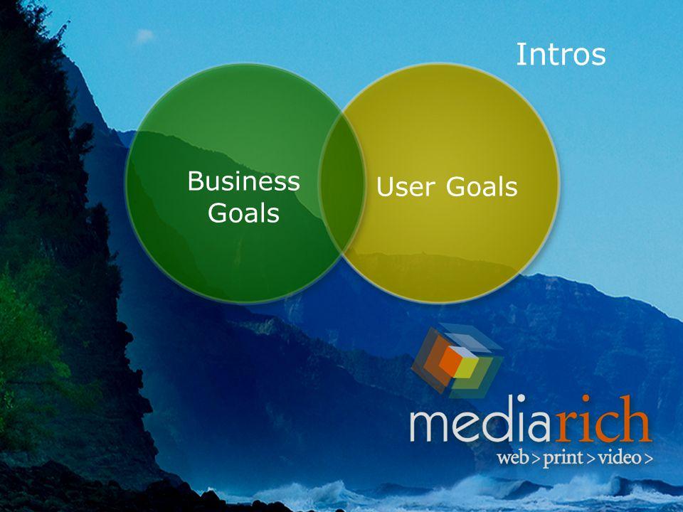 Intros User Goals Business Goals