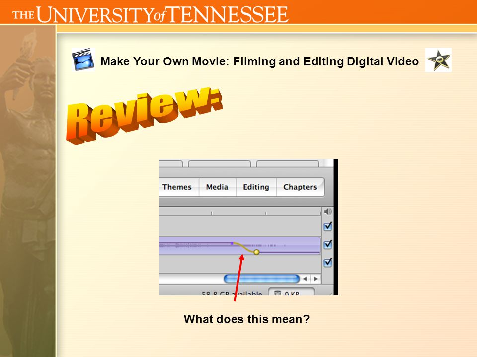 Make Your Own Movie: Filming and Editing Digital Video What is this line?