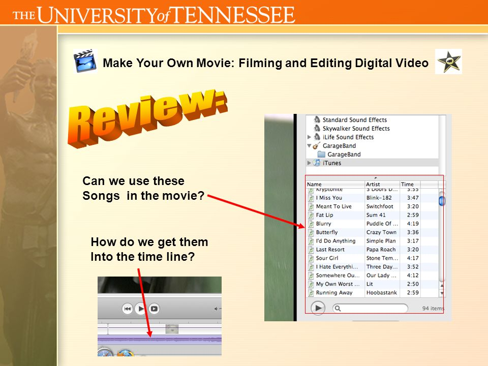 Make Your Own Movie: Filming and Editing Digital Video What does this mean?