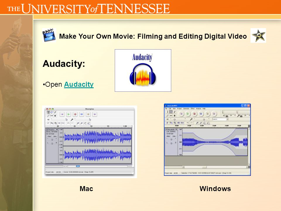 Make Your Own Movie: Filming and Editing Digital Video Open GarageBandGarageBand GarageBand: