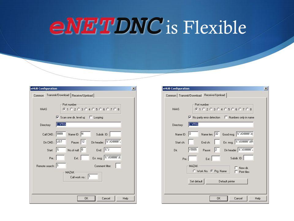 eNETDNC eNETDNC is Flexible