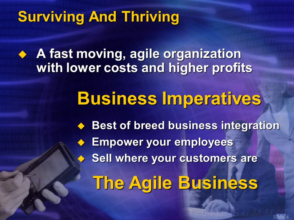 Slide 5 Best Of Breed Business Integration  Best of breed, best of business  Choose the best solutions and partners  Use technology as competitive differentiator  Connect systems into constellations of information for business processes  Flexible foundation is an necessity  Change is constant  Dynamic business relationships  Based on integration standards