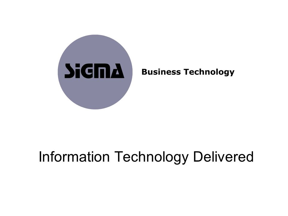 Information Technology Delivered