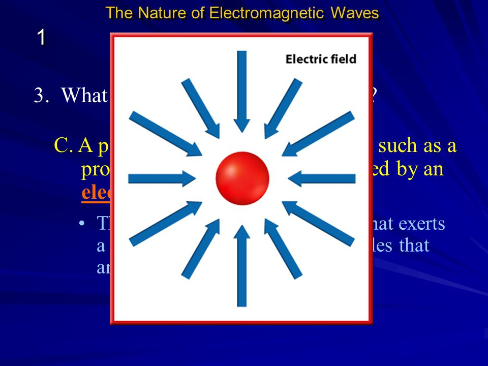 3. What are some types of force fields? B. Forces and Fields The Nature of Electromagnetic Waves 1 1 A. Earth is surrounded by a force field called th