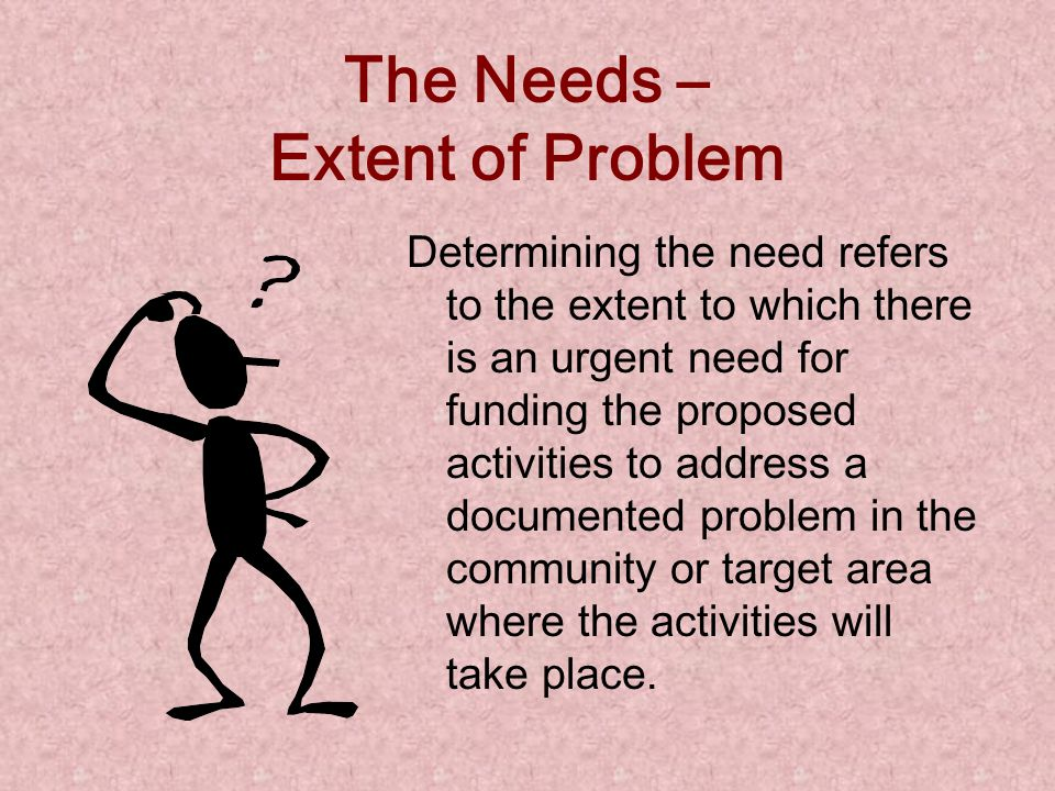 Problem Statement / Needs Assessment (cont ' d)  Makes no unsupported assumptions  Is as brief as possible  Is interesting to read  Is free of jar