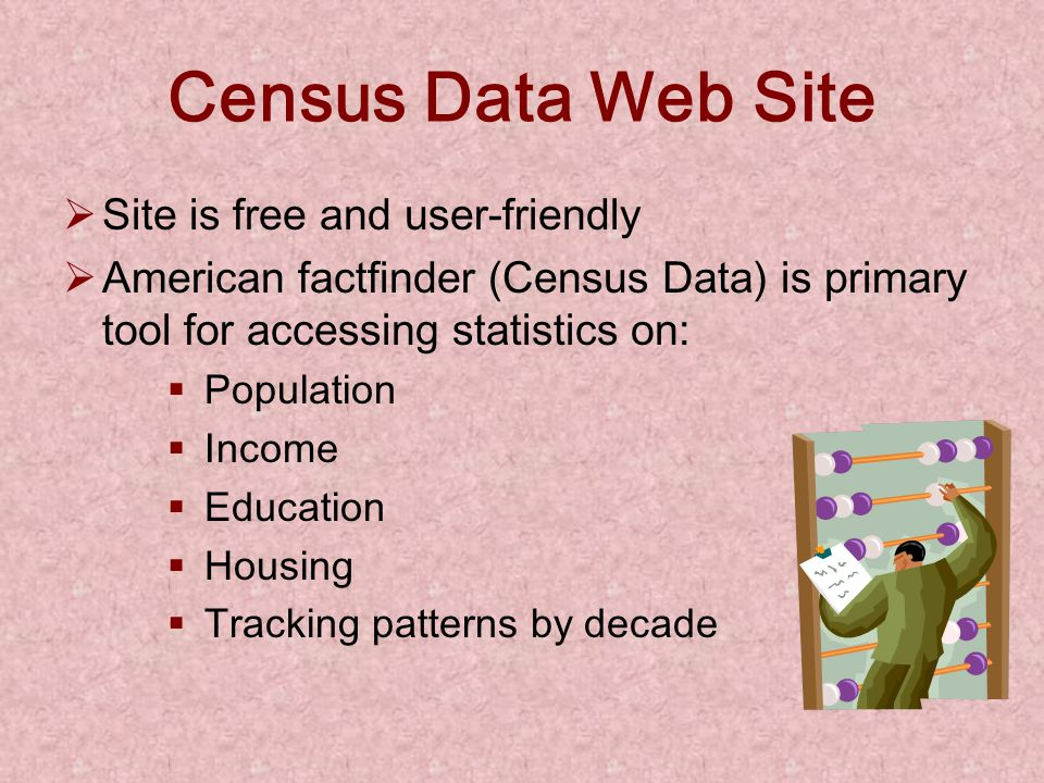 Assessing the Need / Problem Gather all of your facts concerning the problem you have observed. Utilize Census Data from Census 2000, Census 1990, the