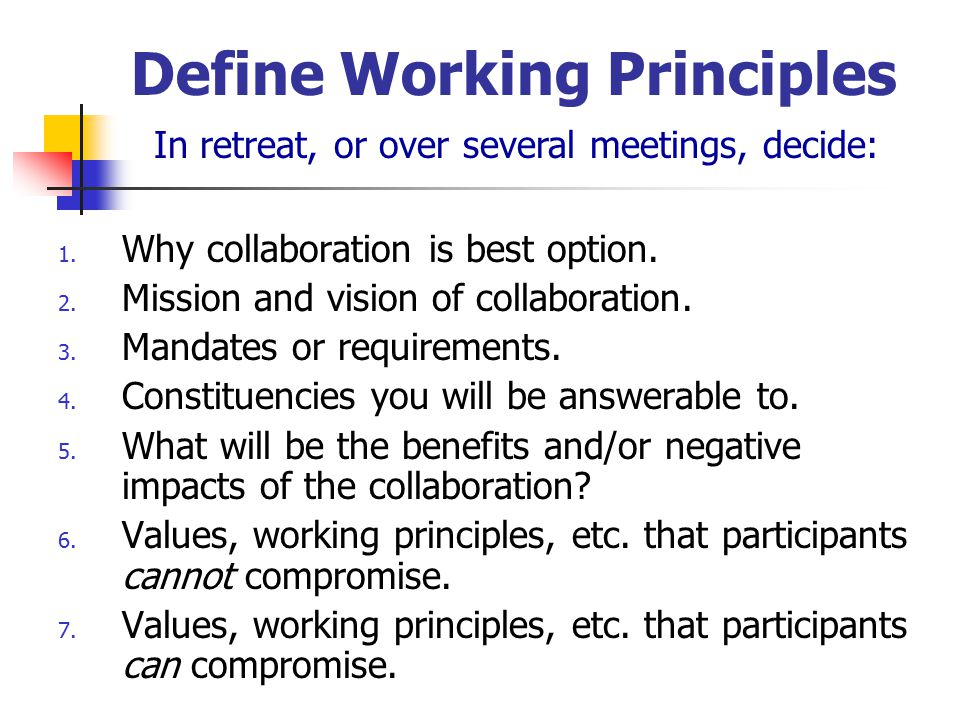 Collaboration Prospects Who might be a good partner? Potential Partners (Who?) Potential Benefits to them (Why?) Collaborative Posture (Experience)