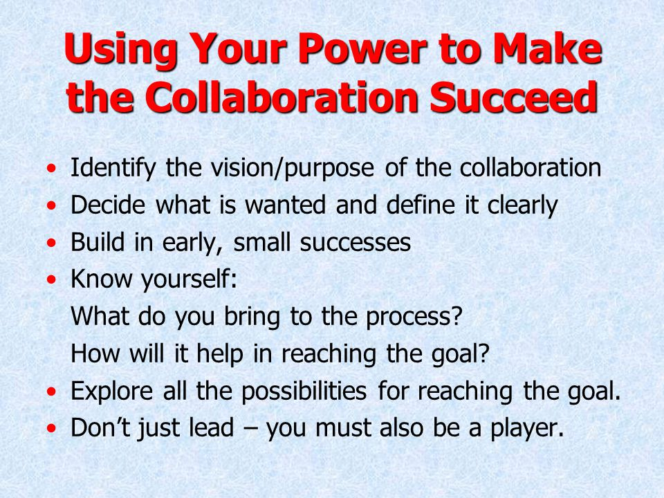 Interplay within the Collaboration The interplay of the stakeholders is the challenging dilemma of successful collaboration.