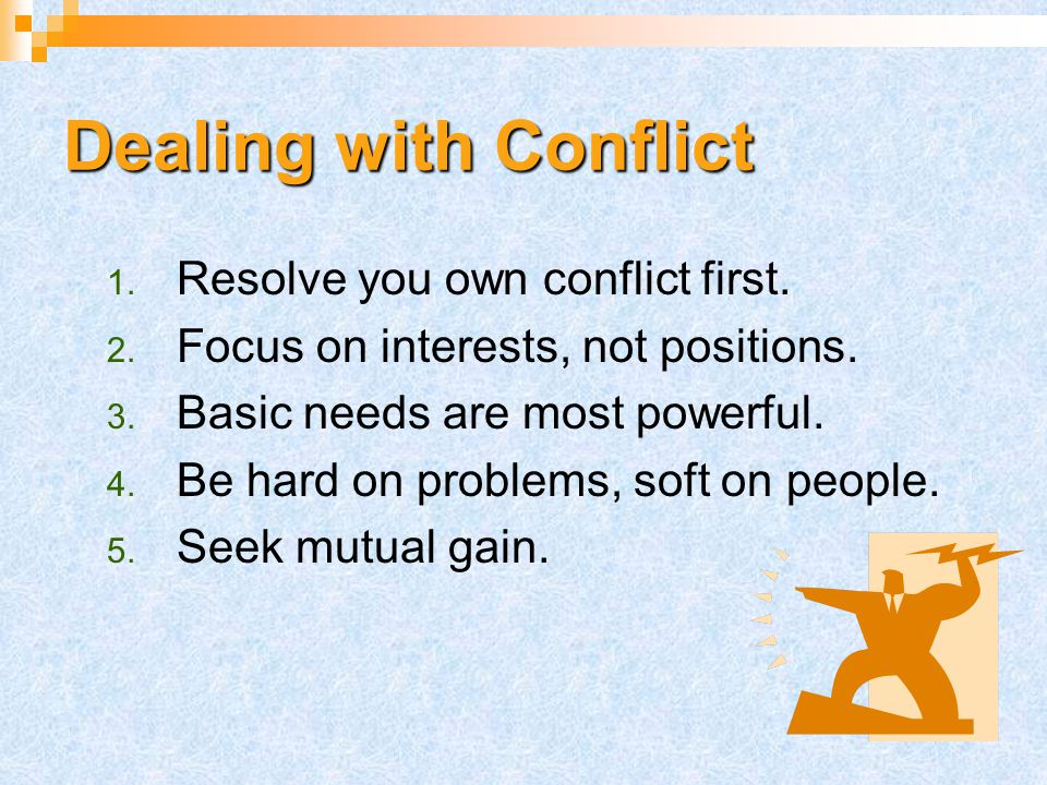 Defining Conflict Unavoidable Occurs naturally Inevitable in organizational life Causes: Incompatibility Frustrated needs Differences Rivalry