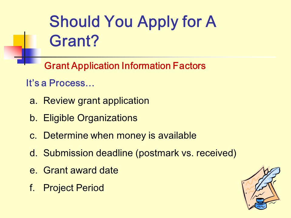 Square Peg in a Round Hole How your organization addresses these factors will determine whether or not you will apply for the grant…