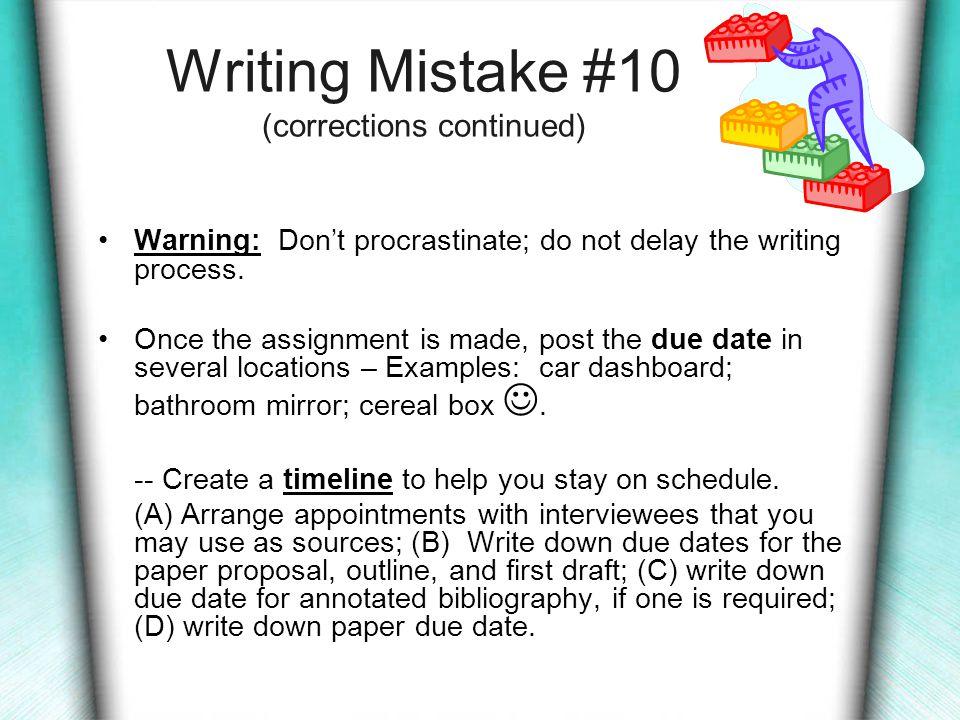 Procrastination – A Common Problem