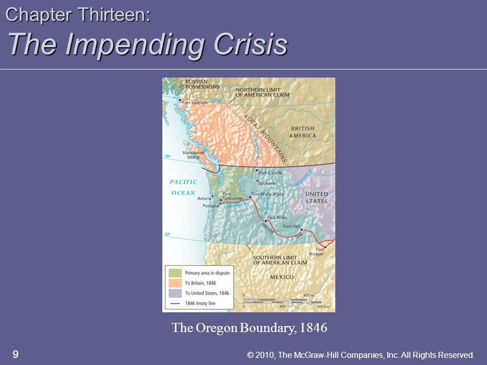 Chapter Thirteen: The Impending Crisis The Crises of the 1850s The Crises of the 1850s – Bleeding Kansas  Pottawatomie Massacre  Preston Brooks and Charles Sumner –The Free-Soil Ideology  Free Soil Ideology  Slave Power Conspiracy 20 © 2010, The McGraw-Hill Companies, Inc.