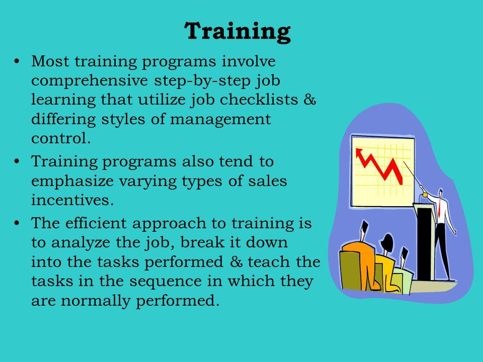 Training Management decides how extensive written job instructions should be.