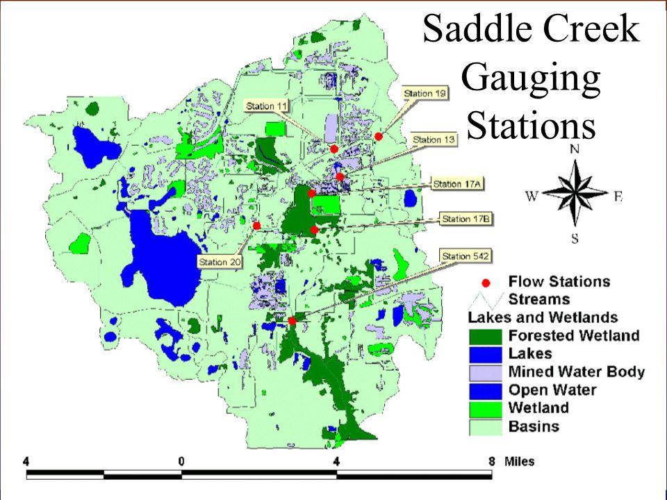 Saddle Creek Gauging Stations