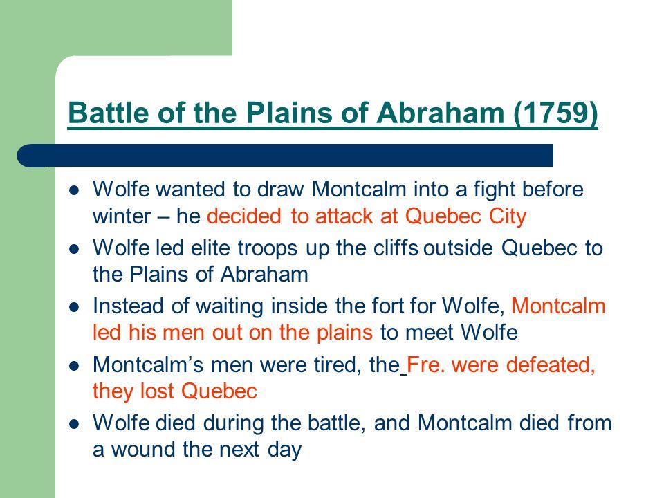 Battle of the Plains of Abraham (1759)