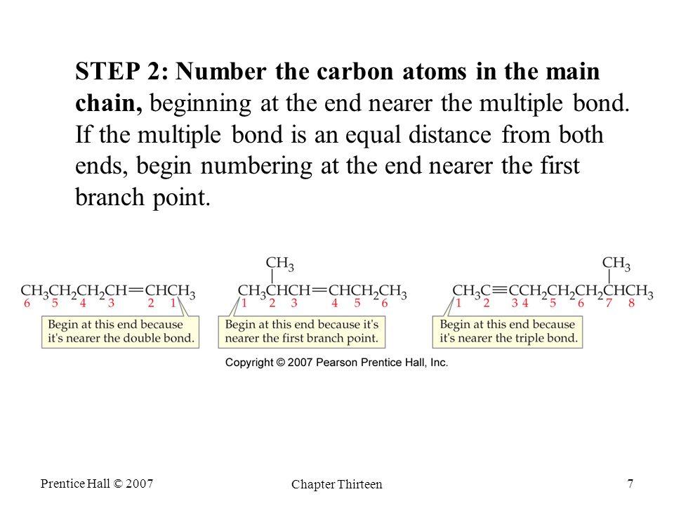 Prentice Hall © 2007 Chapter Thirteen 8 Cyclic alkenes are called cycloalkenes.
