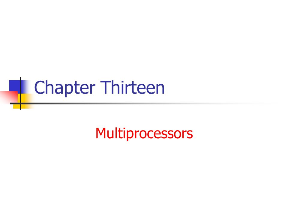 Interprocessor Synchronization ( cont.