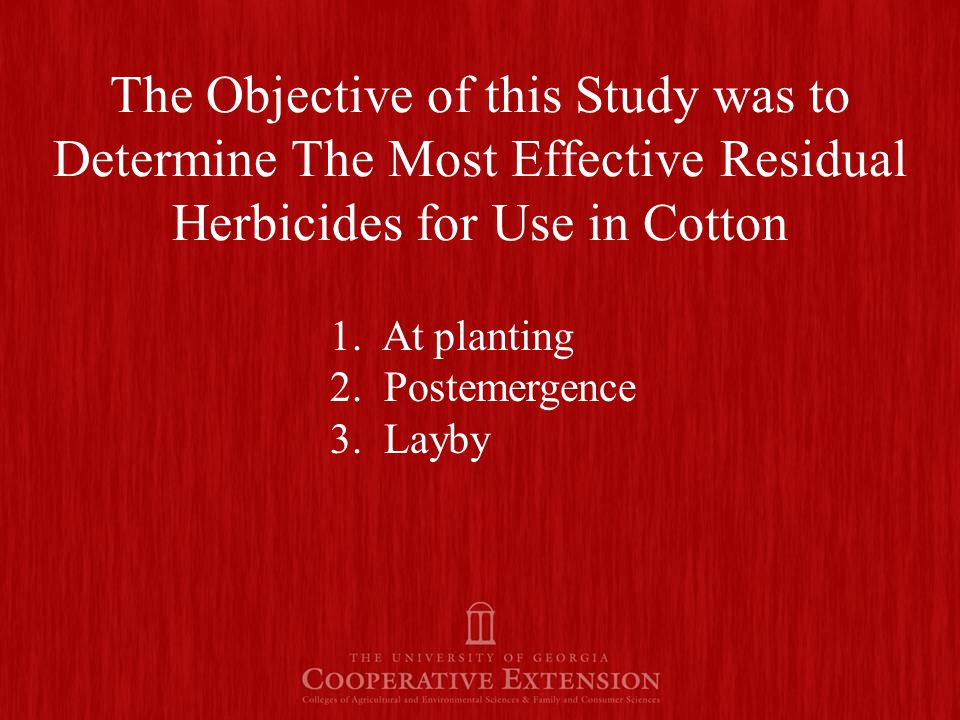 Palmer Amaranth Control by Layby Applied Residual Herbicides.