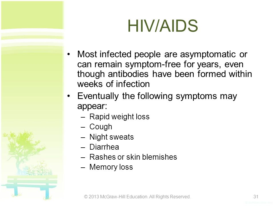 People Living with HIV in 2010 © 2013 McGraw-Hill Education.