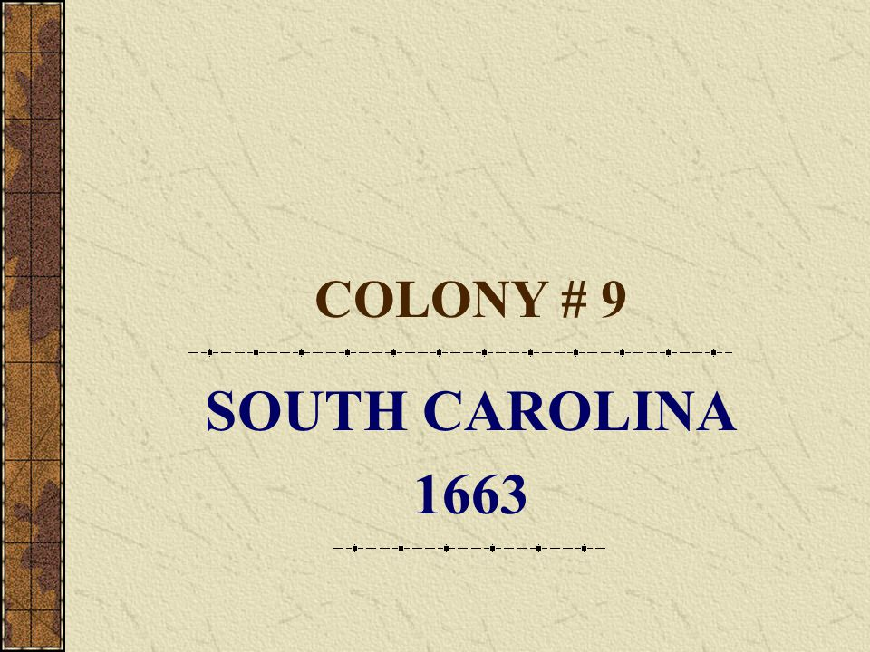 NORTH CAROLINA- Southern FIRST SETTLEMENT Albemarie County FOUNDED 1663 LEADER Group of eight proprietors