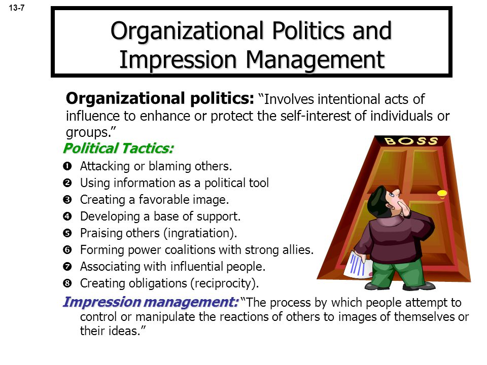 Political Tactics:  Attacking or blaming others.