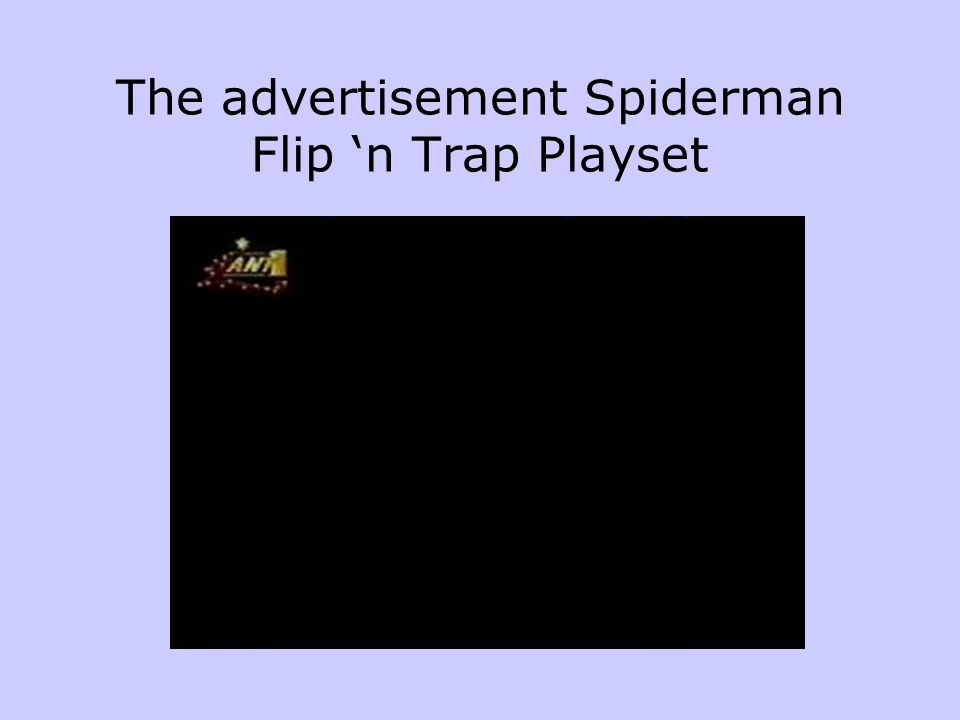 The advertisement Spiderman Flip 'n Trap Playset