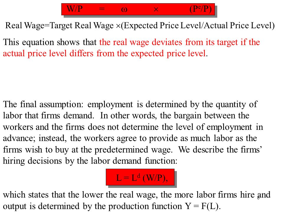 Chapter Thirteen7 Labor, L Y = F(L) Income, Output, Y Labor, L L = L d (W/P) Y=Y+  (P-P e ) real wage, W/P Income, Output, Y Price level, P An increase in the price level, reduces the real wage for a given nominal wage, which raises employment and output and income.