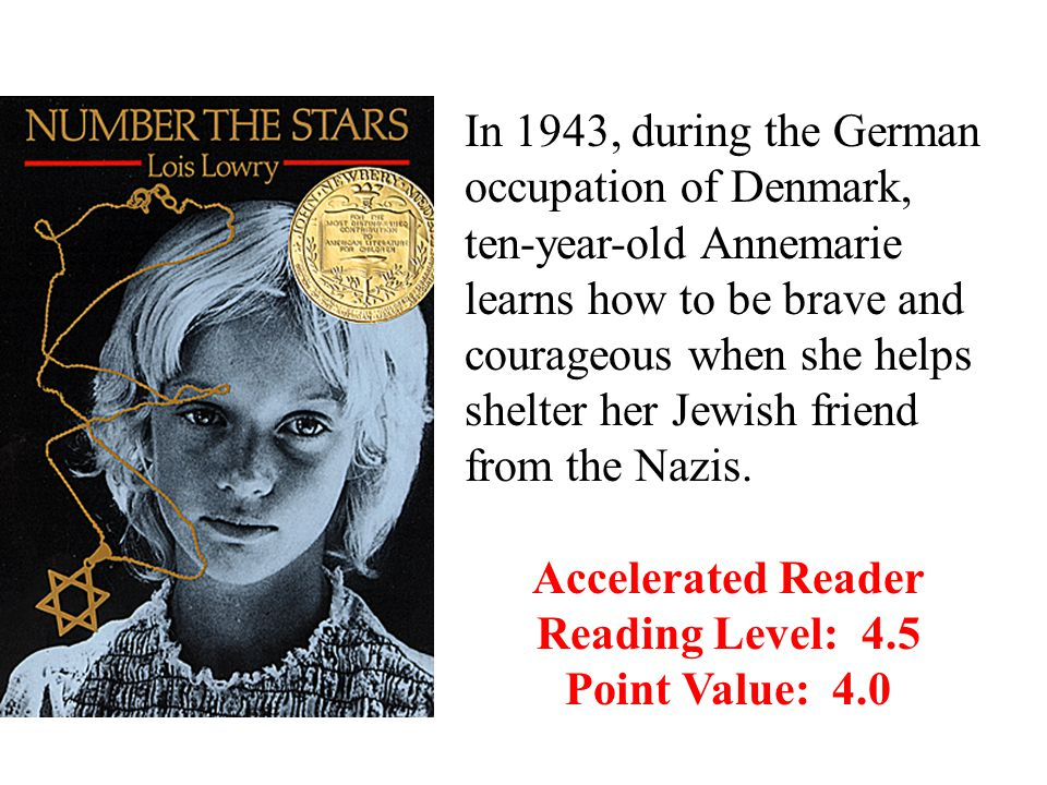 In 1943, during the German occupation of Denmark, ten-year-old Annemarie learns how to be brave and courageous when she helps shelter her Jewish friend from the Nazis.