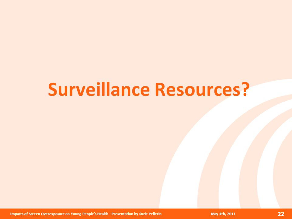 Surveillance Resources.
