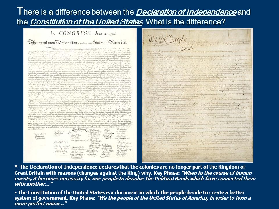 The Declaration of Independence What is our Declaration of Independence.