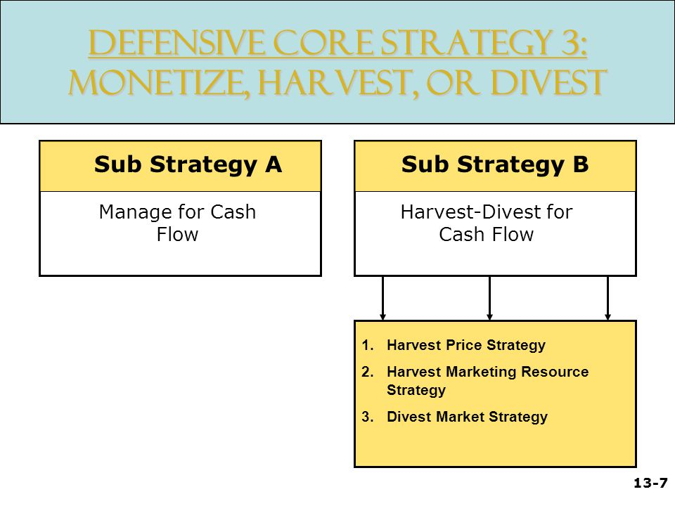 13-8 Takeaways / Review Strategic Market Plans Profit Protection Portfolio Analysis and Strategy Selection Defensive Strategies Defensive Tactics