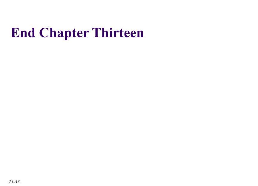 End Chapter Thirteen 13-33