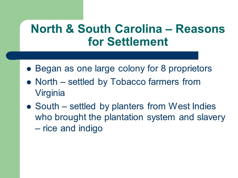 North & South Carolina 1663