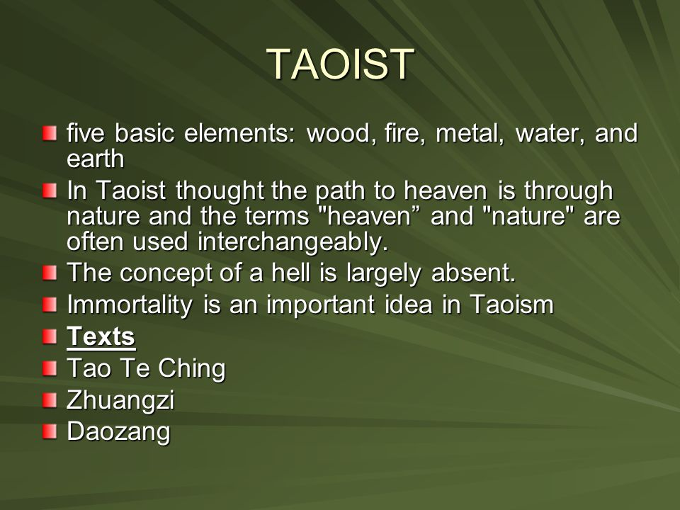 TAOIST  Taoism is polytheistic, it has many deities are part of a heavenly hierarchy that mirrors the bureaucracy of Imperial China. According to the