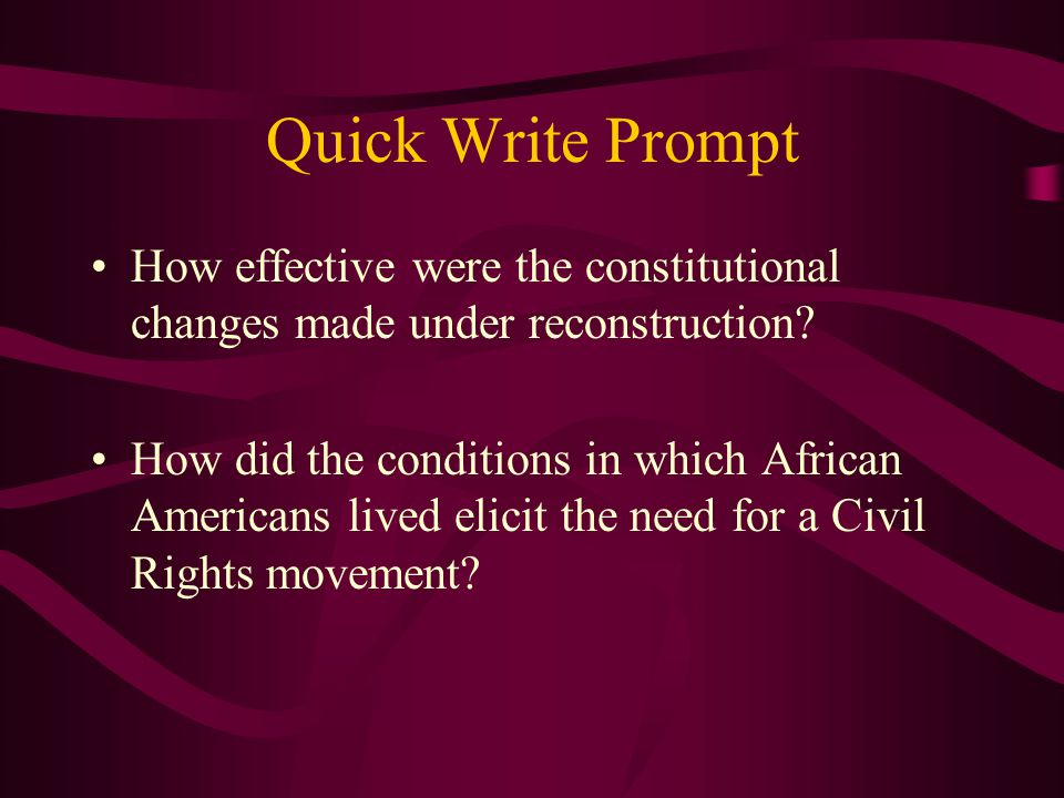 Before the Civil Rights Movement the U.S. looked like this…