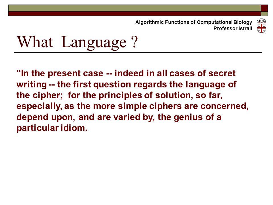 What Language .