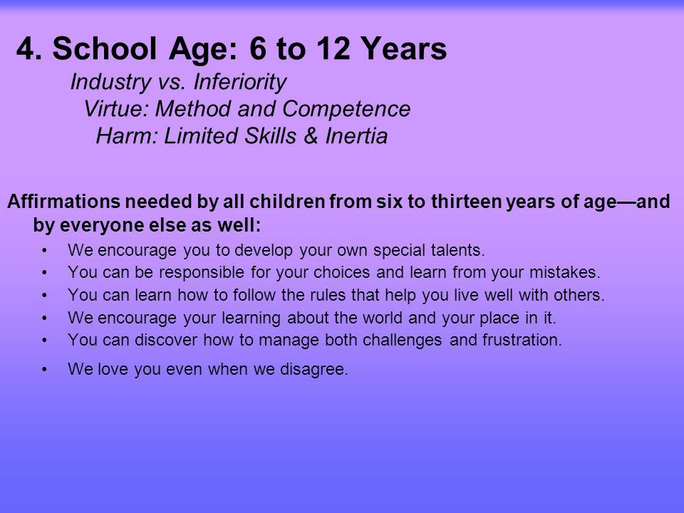 5.Adolescence: 12 to 18 Year Identity vs.