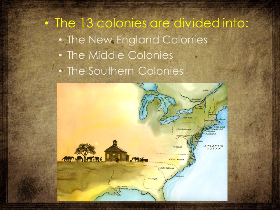 The New England Colonies New England is a region in the northeastern corner of the U.S.A., consisting of: 1.-New Hampshire 2.-Massachusetts 3.-Rhode Island 4.-Connecticut
