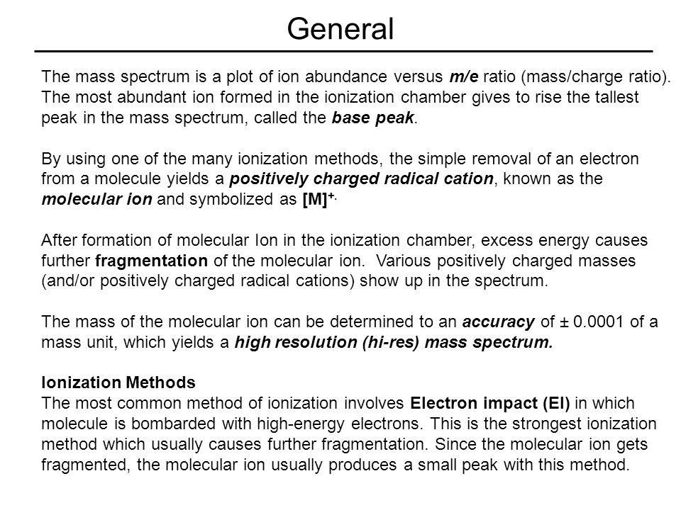 105 (base peak) molecular ion, M (148) Mass Spectrum of Isobutyrophenone molecular weight = 148 C 6 H 5 CO + 77 C 6 H 5 + M+1