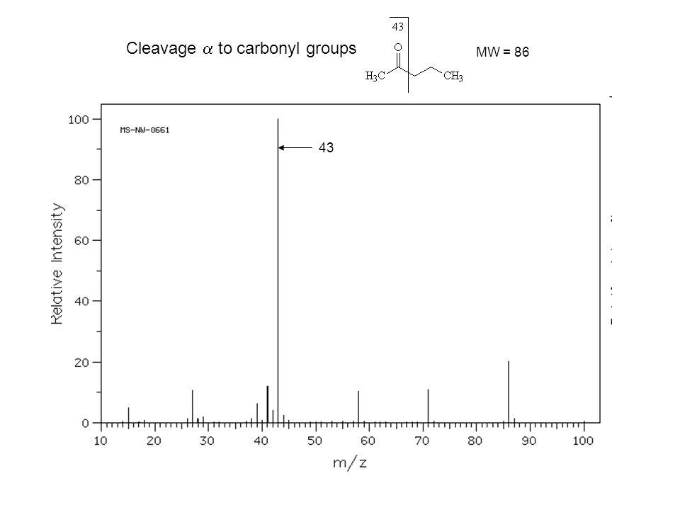 60 McLafferty rearrangement carboxylic acids