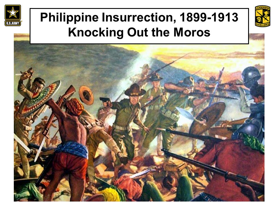 An Introduction to the History and Heritage of the United States Army Philippine Insurrection, 1899-1913 Knocking Out the Moros