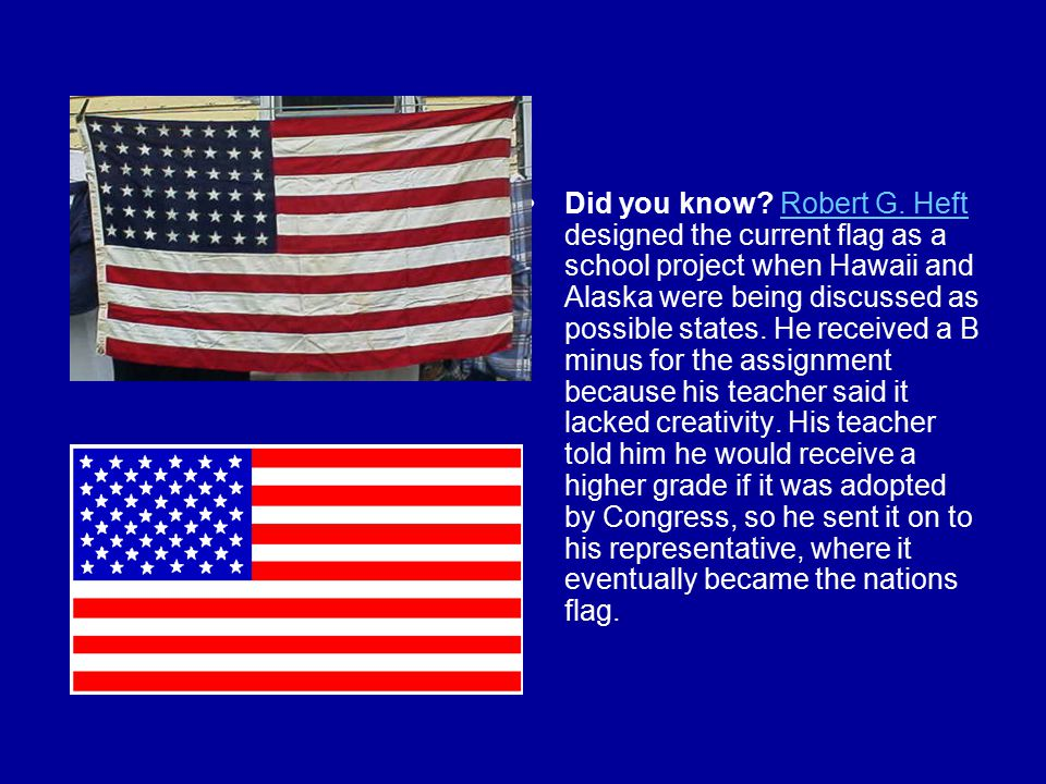 Did you know. Robert G.
