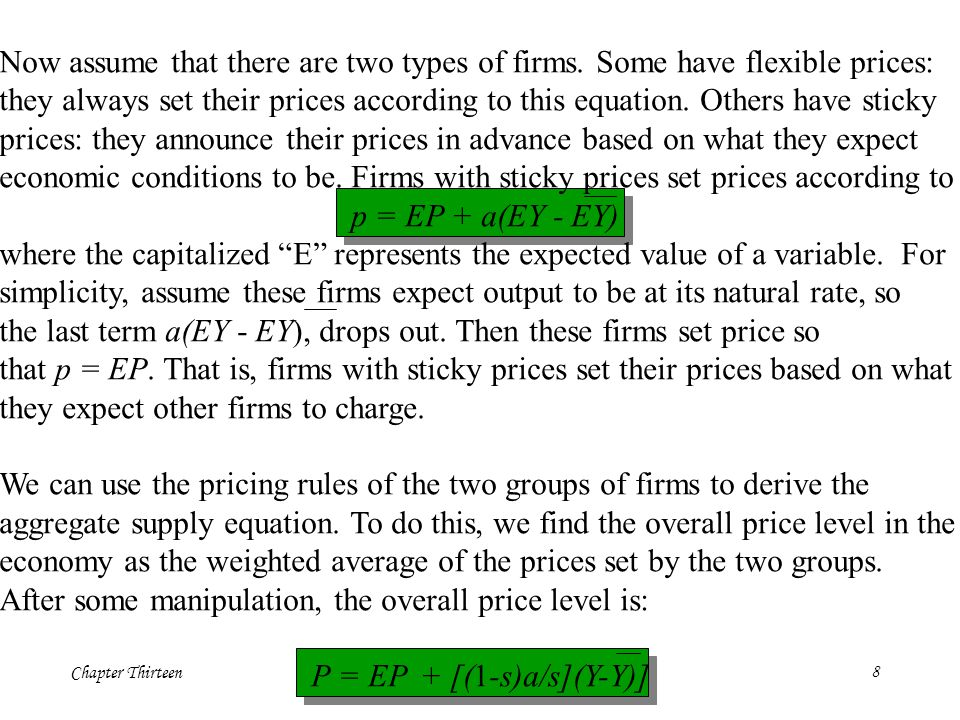 Chapter Thirteen8 Now assume that there are two types of firms.