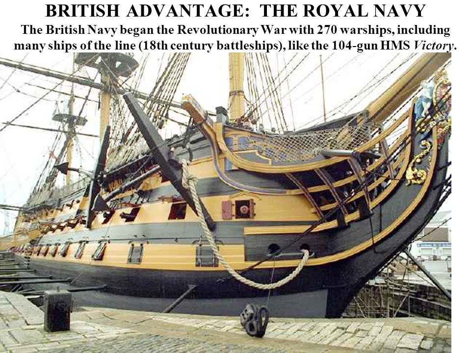 BRITISH ADVANTAGE: THE ROYAL NAVY (Below) The gun deck on the HMS Victory.