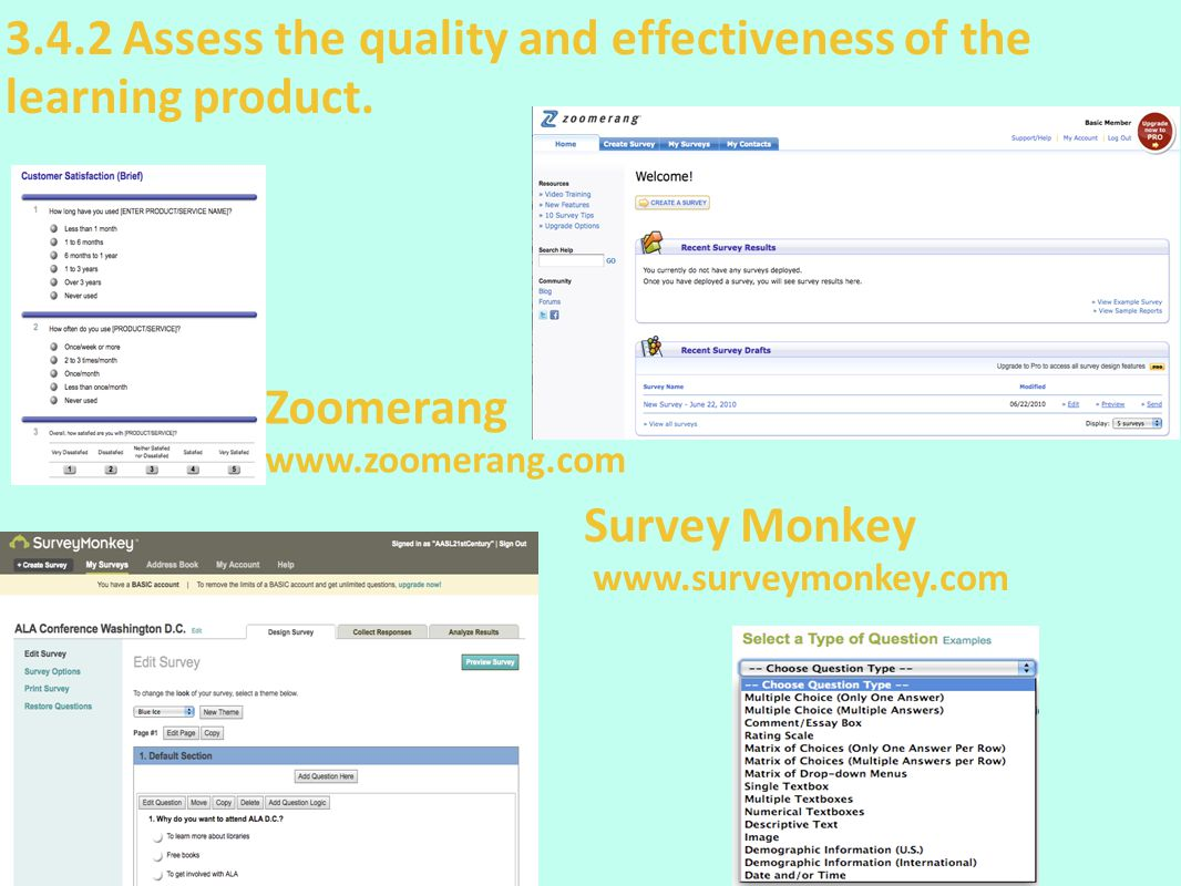3.4.2 Assess the quality and effectiveness of the learning product.