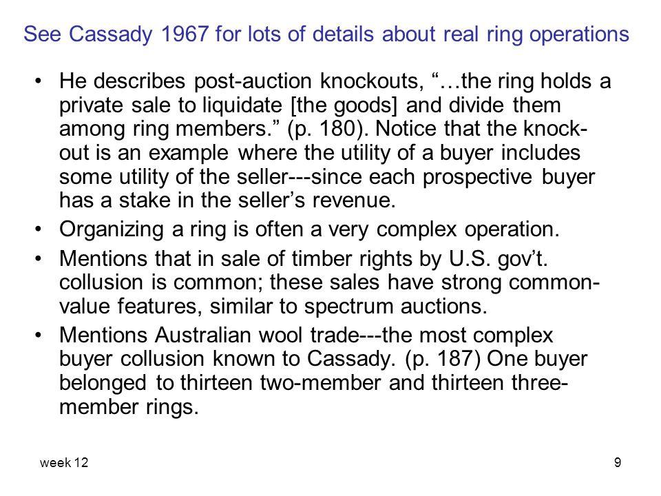 week 1230 Auctions vs.